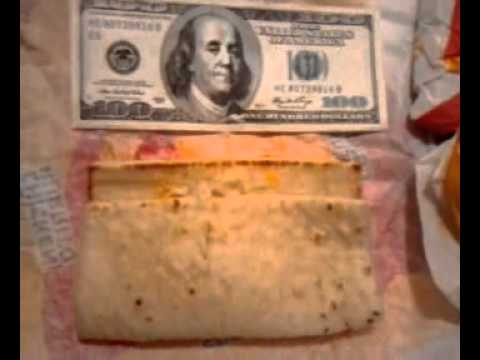 Taco Bell chicken Flatbread exposed