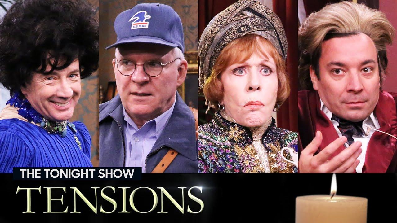 Tensions with MartinShort, SteveMartin and Carol Burnett | The Tonight Show Starring Jimmy Fallon