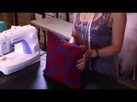 Making Curtains & Pillows - How To Stuff A Pillow