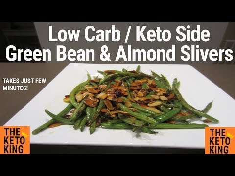 Green Beans and Almond Slivers | EASY keto side | Easy low carb side | Only 4 ingredients!
