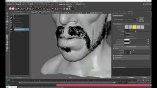 Ornatrix for 3dsmax] Making of Nader Shah: Part 3, Facial