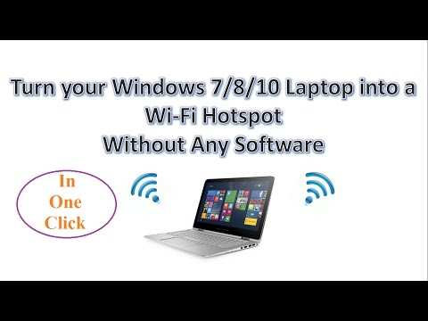 Turn your Windows 10 Laptop into a Wi-Fi Hotspot Without Any Software