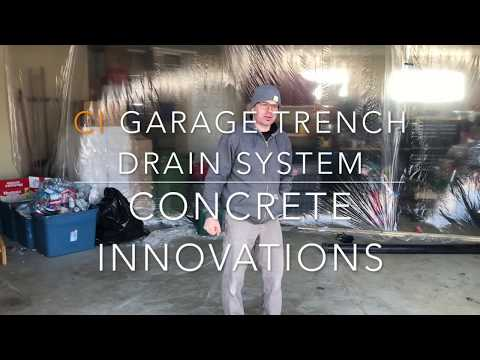Garage trench drain system - Step by step installation in an existing concrete slab
