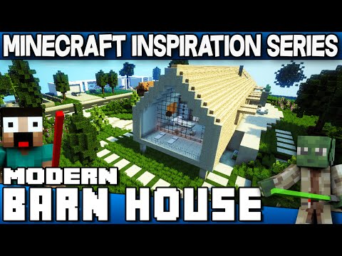 Minecraft - Modern Barn House - Keralis Inspiration Series