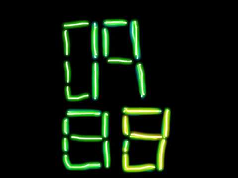 Countdown VII glow 10 seconds more or extra milliseconds