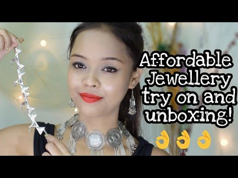 AFFORDABLE JEWELLERY TRY ON AND UNBOXING @ 449 || THE HOUSE OF PANDORA SUBSCRIPTION BOX || INDIA