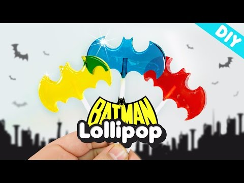 DIY BATMAN Lollipops Candy ! Superhero BATMAN Candy Pops - MonsterKids