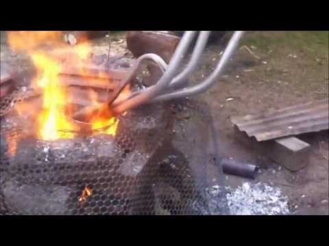 How to easily smelt scrap Aluminum in larger amounts and rough casting lathe stock