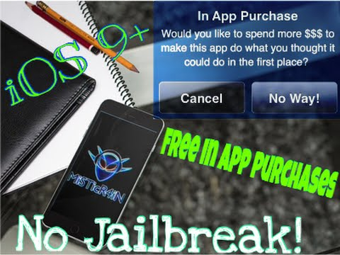 iOS 7-9.2 How To  Get FREE In-App Purchases (NO JAILBREAK) on iPhone, iPad, iPod Touch