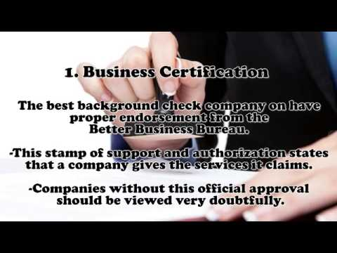 How to Find the Best Background Check Company