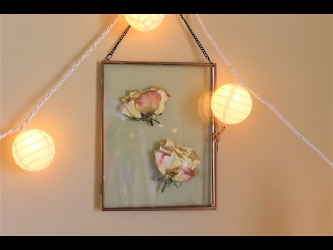 How to Press Flowers + D.I.Y Pretty Room Decor