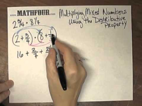 Multiplying Mixed Numbers Using the Distributive Property