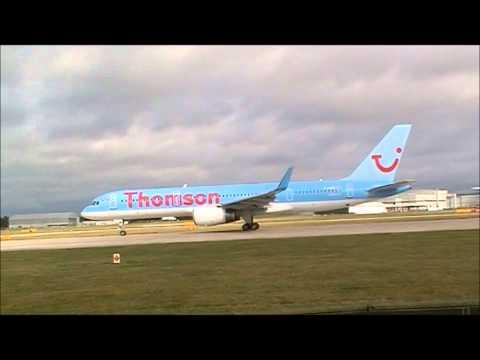 Thomson Airways Boeing 757 departing 23L Manchester
