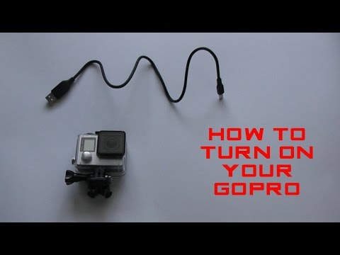HOW TO TURN ON YOUR GOPRO HERO 2 3/3+ AND 4 (SIMPLE)