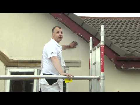 Painting the Exterior of Your House - Reparing Fine Cracks and Holes