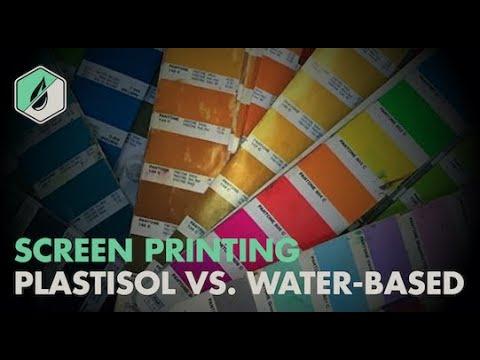Plastisol vs Water Based Screen Printing Ink Types