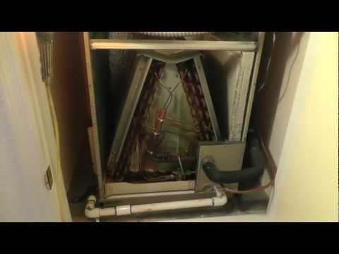 Phoenix Air conditioning condensate drain line problems, evaporator pan leaks HVAC, plugged drain