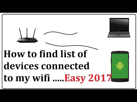 how to find list of devices connected to my wifi in android