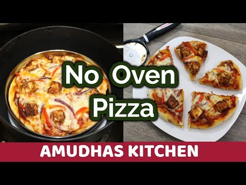 No Oven Paneer Tikka Pizza | Veg Pizza in Tamil | Home Made Pizza Dough & Sauce