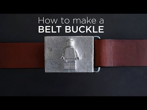 How to make a Belt Buckle | Kinetic Sand Metal Casting Project