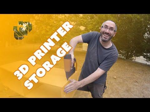 How to Make a 3D Printer & Filament Storage Box - Prop: Shop