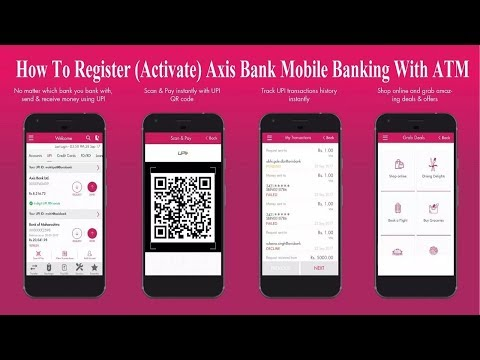 How to Register | Activate AXIS BANK MOBILE BANKING With ATM Card | By Techmind World |
