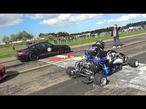230HP Super Kart vs. 1300HP Porsche 9ff vs. 1088HP AUDI S4