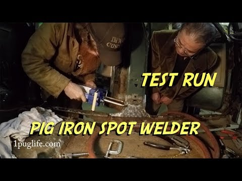 pig iron spot welder test