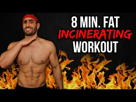 8-Minute FAT BURNING Workout At HOME (LOSE WEIGHT FAST!)
