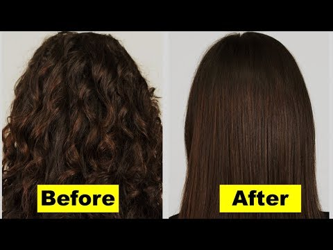How to Make Hair Straight Naturally without Straightener Overnight | Permanent Hair Straightening