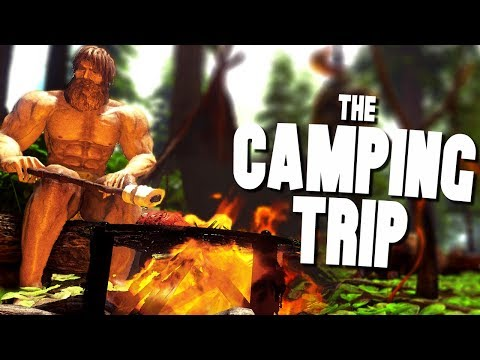 CAMPING WITH DINOSAURS! - Ark Survival Evolved (Modded)