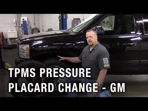 TPMS Pressure Placard Change - GM