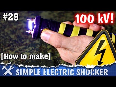How to make electric shocker. DIY high voltage teaser