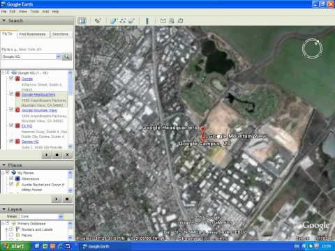 Adding a bookmark/placemark to Google Earth