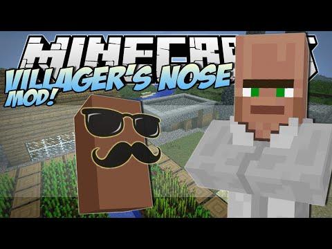 Minecraft | VILLAGER'S NOSE MOD! (Grow Your Own Trayaurus'!) | Mod Showcase