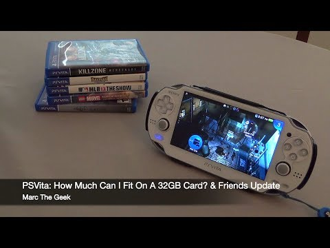 PSVita: How Much Can I Fit On A 32GB Card & What's on My Vita.