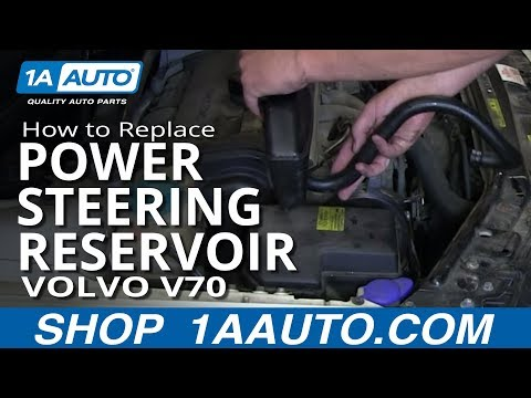 How To Install Replace Power Steering Reservoir and Hose 1999-04 Volvo V70