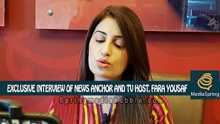 Exclusive Interview with News Anchor and TV Host Fara Yousaf