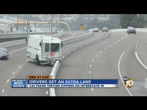 TRAFFIC: Drivers Get Extra Lane During Rush Hour with