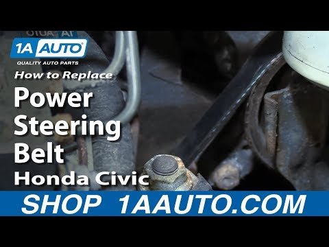 How to Replace Power Steering Belt 2001-05 Honda Civic