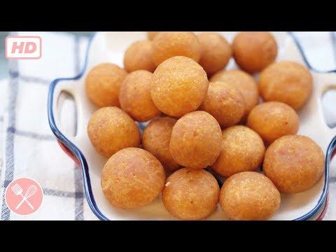 How to make Fried Thai Sweet Potato Balls (video)