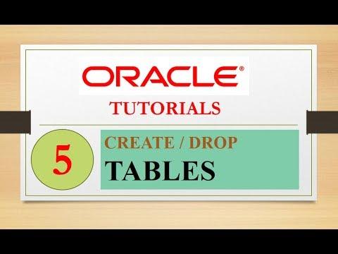 Oracle Tutorials : 5 - CREATE / DROP TABLE