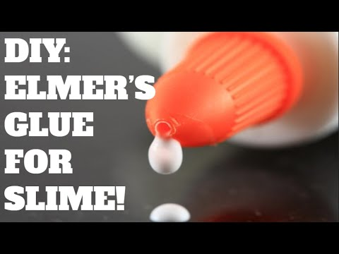 DIY: ELMER'S GLUE FOR SLIME! EASY!!!