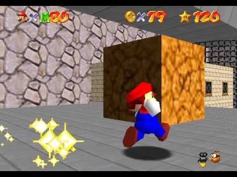 [TAS] Super Mario 64 - Go to PUs for Red Coins (+100 coins) 1'11