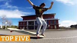 TOP FIVE:  Longboarding, Wingsuit Flying & Downhill MTB | PEOPLE ARE AWESOME 2016