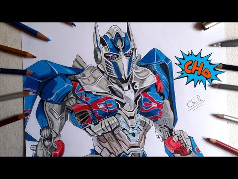 Speed Painting Optimus Prime From Transformers Age Of Extinction
