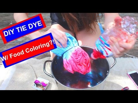 DIY: TIE DYE WITH FOOD COLORING!