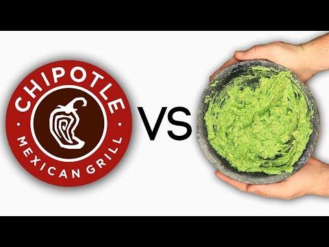 Chipotle Guacamole Vs.  HomemadeChipotle Guacamole