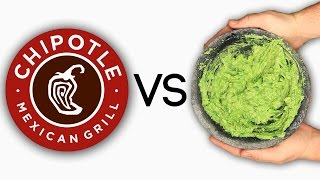 Chipotle Guacamole Vs.  Homemade Chipotle Guacamole