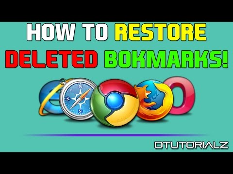 How To RESTORE DELETED BOOKMARKS on GOOGLE CHROME or
